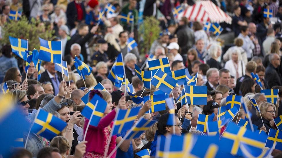Sveriges nationaldag på Skansen. Nationaldagen firas 6 juni till minne av flera händelser, bland annat att Gustav Vasa valdes till kung 6 juni 1523.