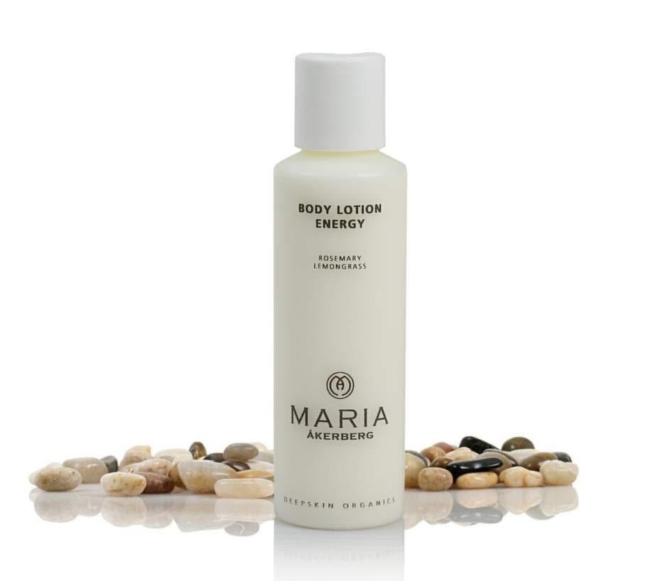 """Hudkräm """"Body Lotion Energy"""" från Maria Åkerberg innehåller bland annat växtoljor och mjölksyra för bra fukt- och fettbalans, 219 kronor."""