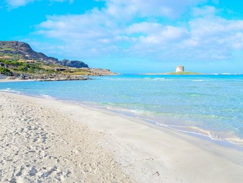 La Pelosa på norra Sardinen.