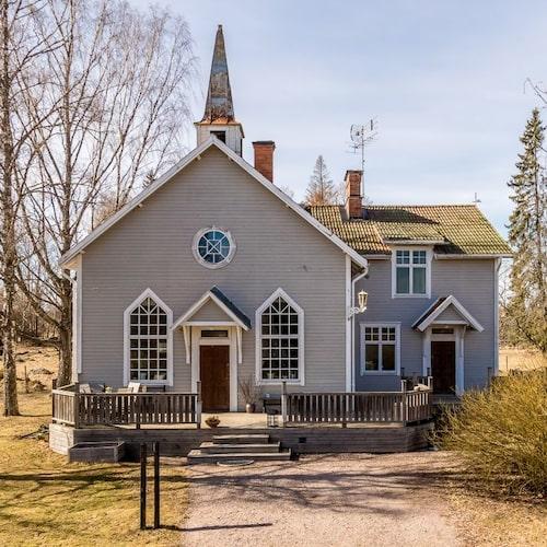 Gammalt missionshus utanför Uppsala.