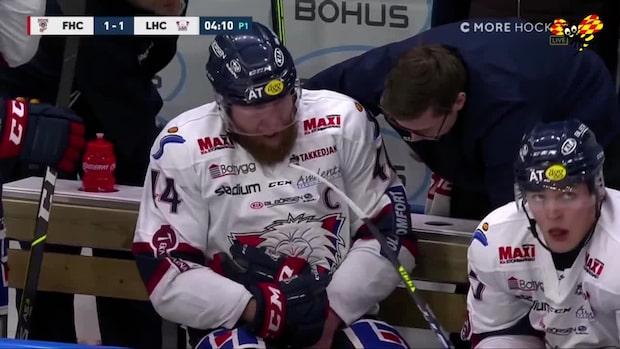 Linköping-kaptenen täcker skott – skriker av smärta