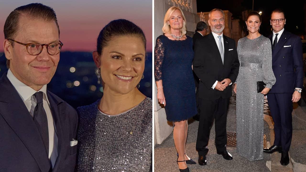 Victorias och Daniels lyxiga middag i Italien