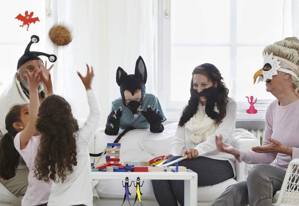 Ikeas nya lekkollektion Lattjo är uppdelad i kategorierna spel, leksaker, kläder för rollekar och musikinstrument.