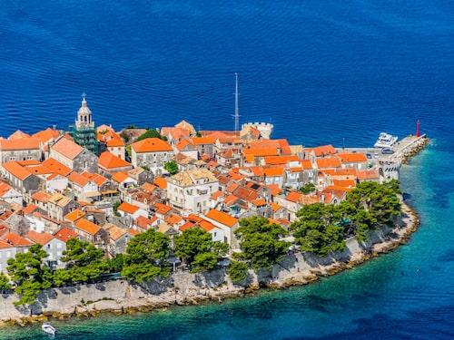 Korcula påminner mycket om Dubrovnik.