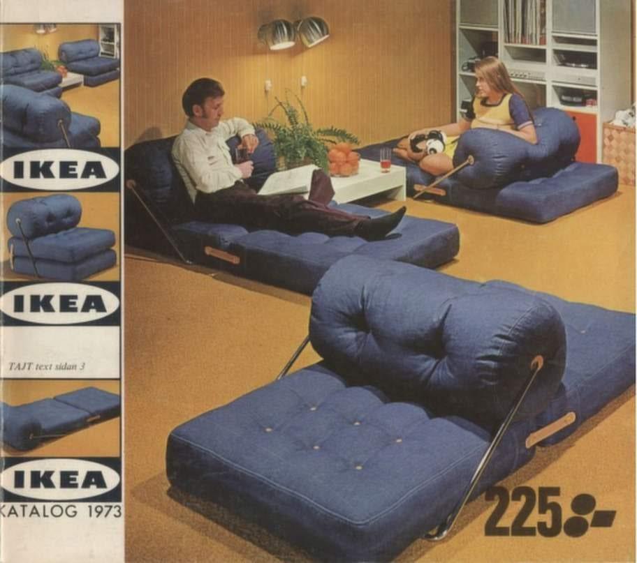 1973. Hemmet skulle vara mysigt. Här en kombinerad sitt- och liggmöbel.