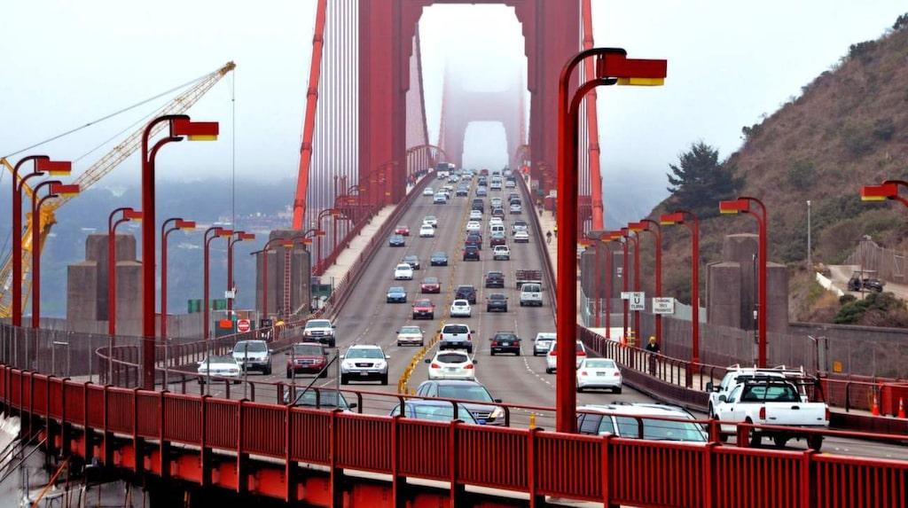 <p>Mäktig känsla att åka med bilen över Golden Gate-bron för första gången.</p>
