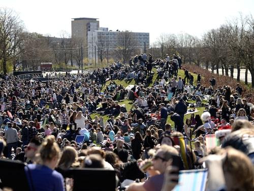 Valborgsfirandet i Lund drar full park – i fjol samlades cirka 30 000 personer i stadsparken.