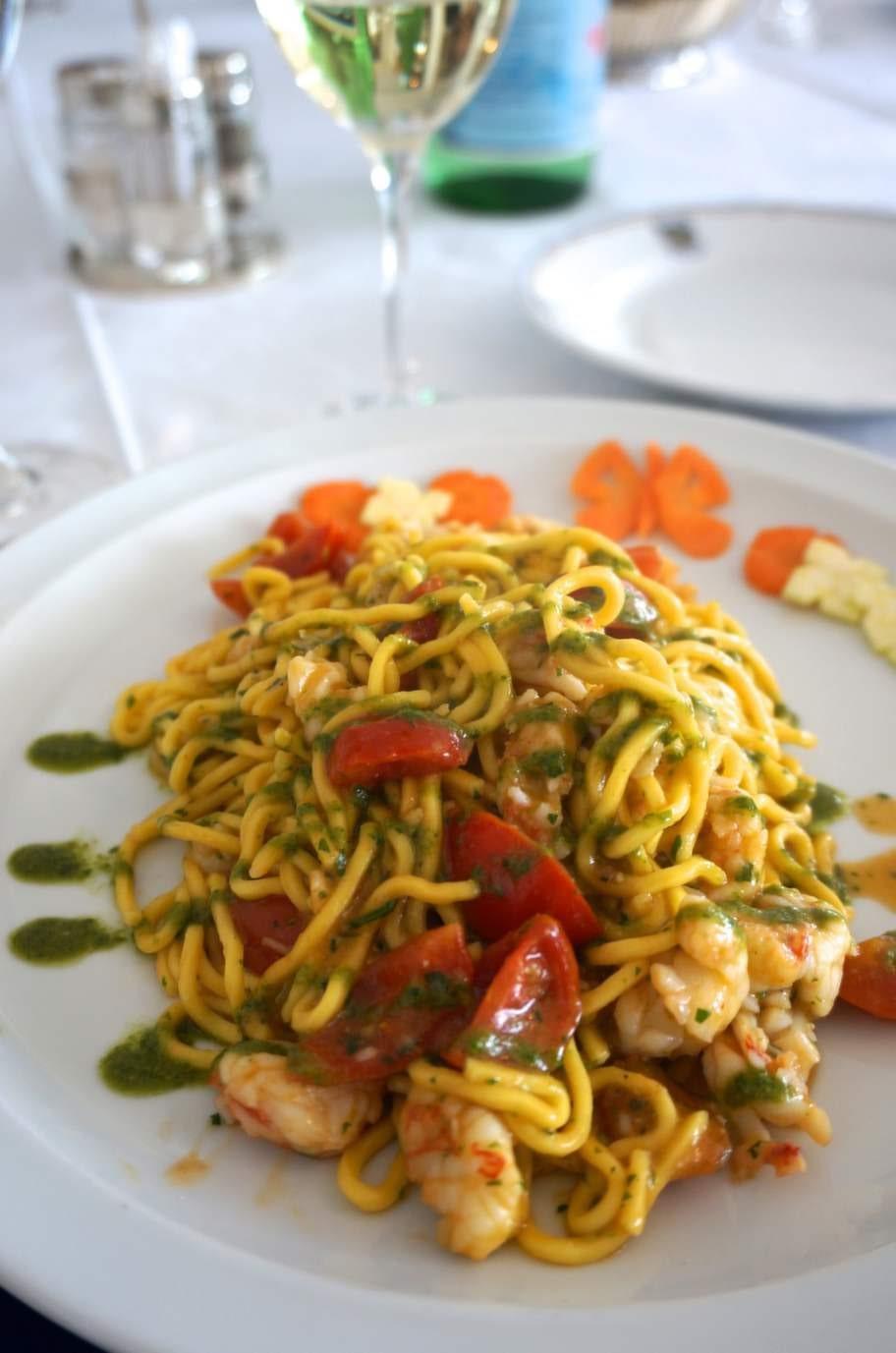 Förförisk pasta på Il Marin, Genua.