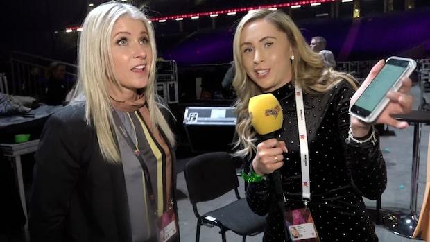 Anette Helenius reder ut poängen i Melodifestivalens final