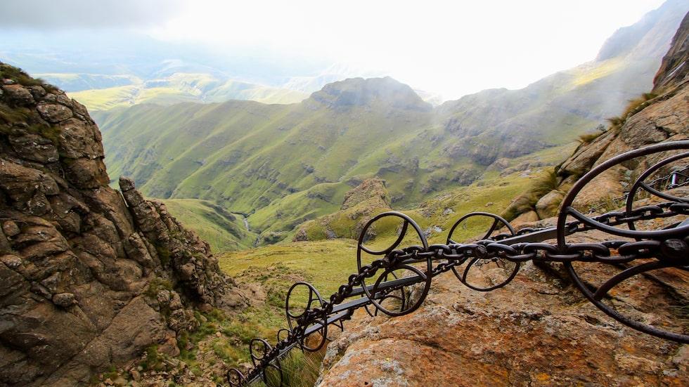 Sentinel Peak Hike i Sydafrika är brant.