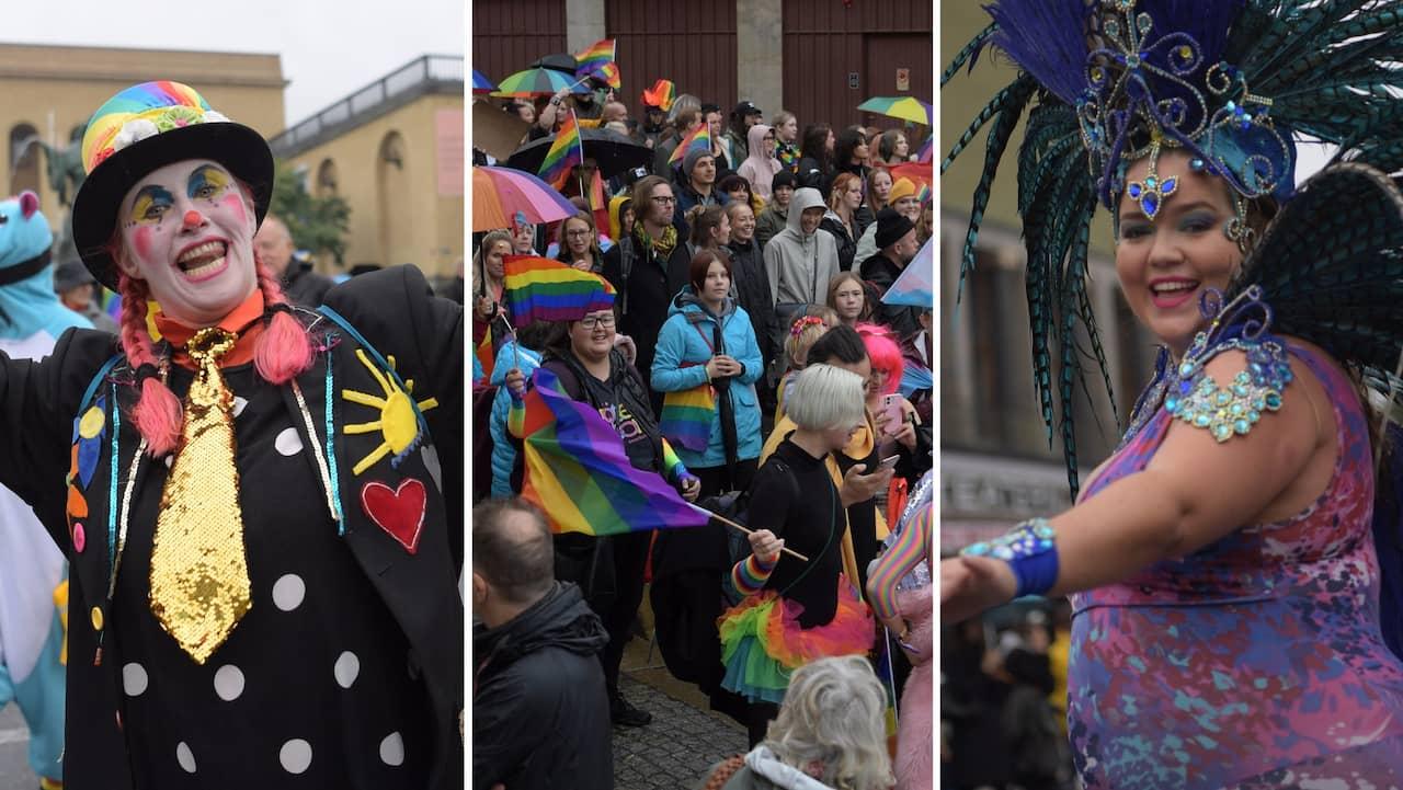 Prideparaden tågade genom Göteborg efter pandemipaus
