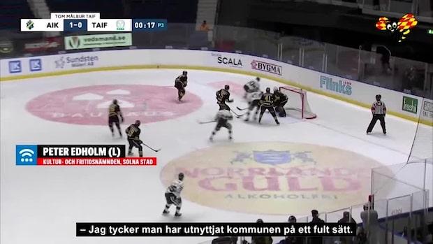 """Storsatsande AIK Hockey har miljonskuld till Solna Stad: """"Utnyttjat oss"""""""