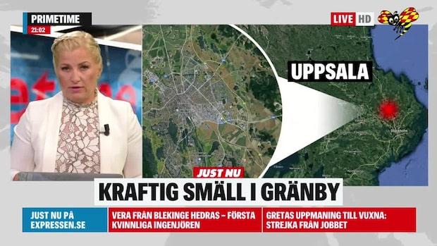 Hög smäll i Gränby i Uppsala