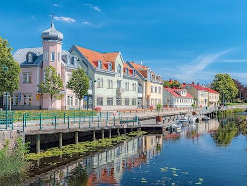 Ronneby och Ronnebyån.