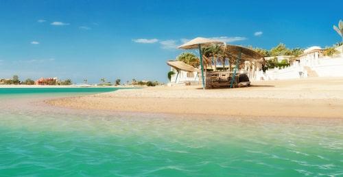 Egypten är känd för sina vackra stränder, här i El Gouna.
