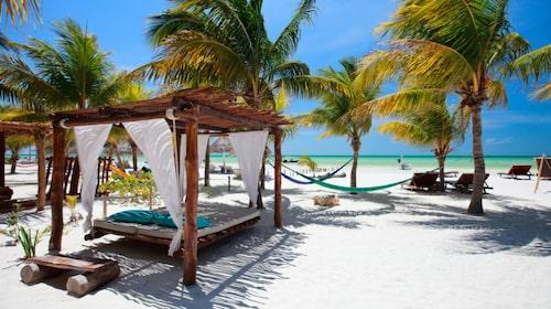 På ön Isla de Holbox i Mexiko finns gator av sand.