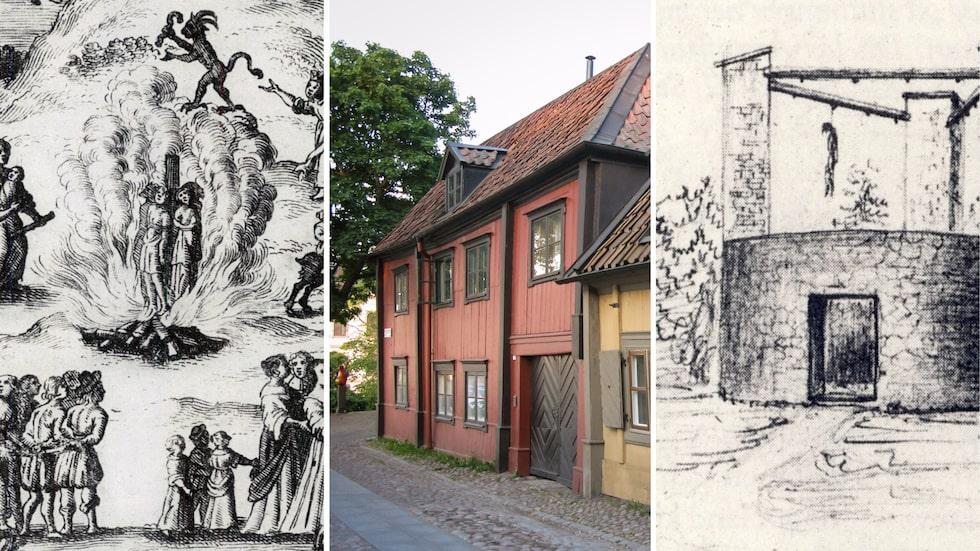 Häxprocesser, avrättningsplatser och bödlars bostäder. Det finns många ställen i Stockholm med en mörk historia.