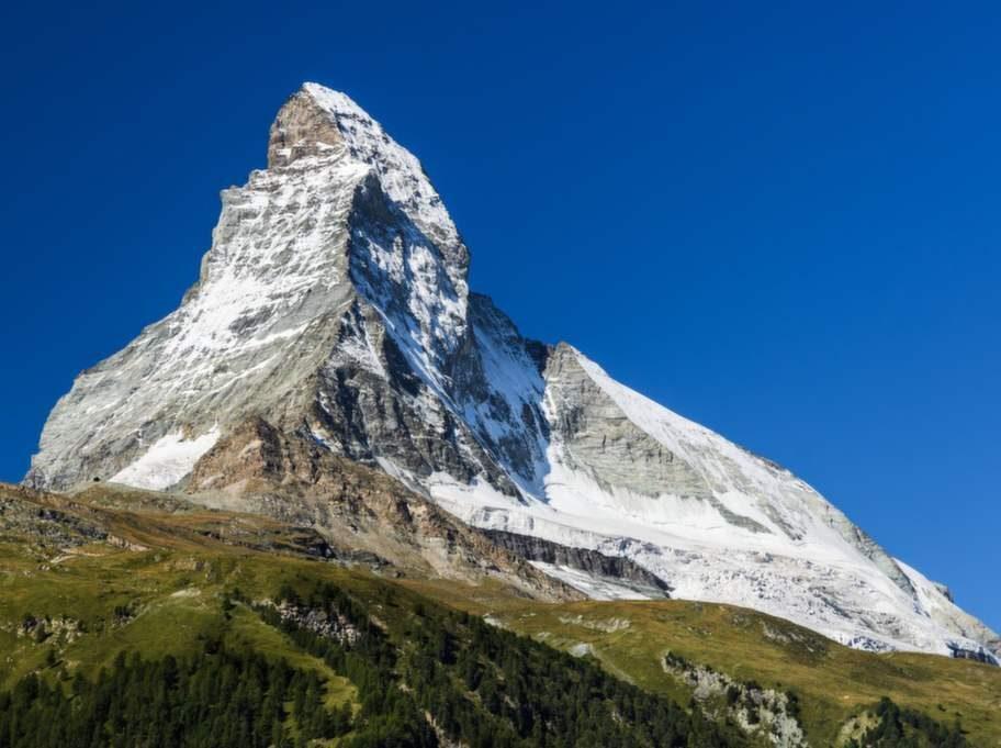 Zermatt, Schweiz. Matterhorn är världens mest fotograferade berg.