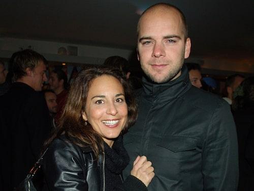 Alexandra Rapaport tillsammans med partnern Joakim Eliasson.