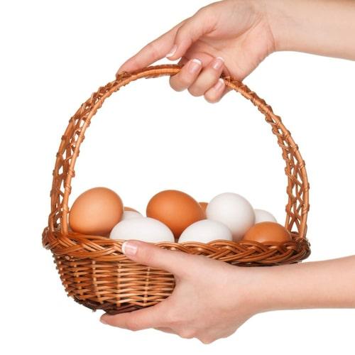A-vitamin kan du hitta i ägg bland annat.