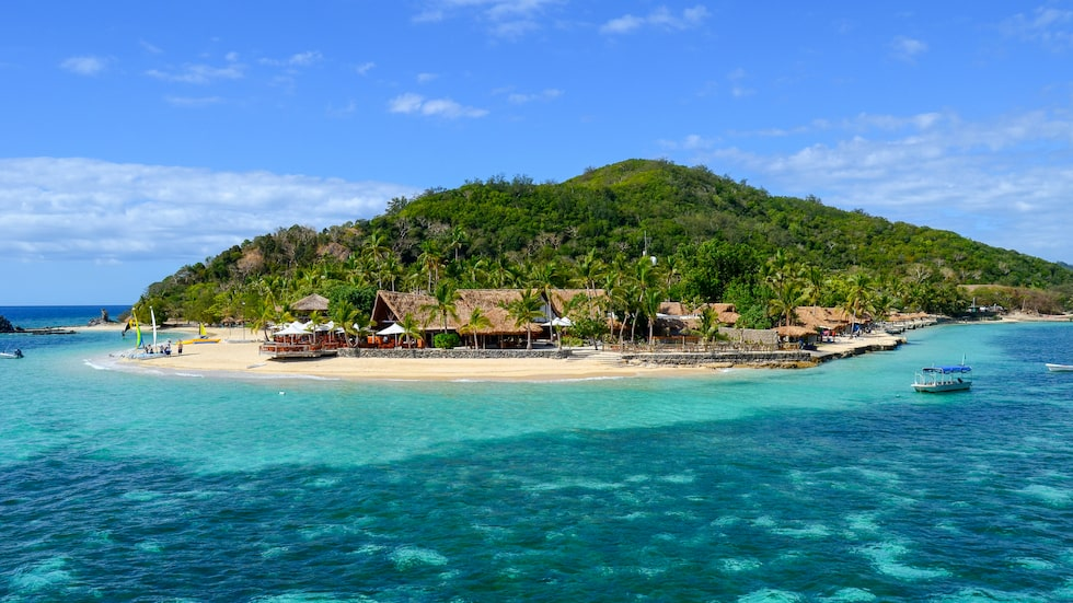 En av alla paradisöar i Fiji.