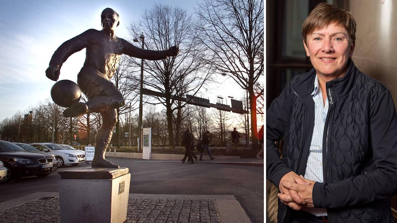 Gunnar Gren får sällskap – av en kvinnlig staty
