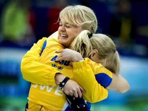 Anette har tagit två OS-guld. Här jublar hon efter finalsegern i Kanada 2010.