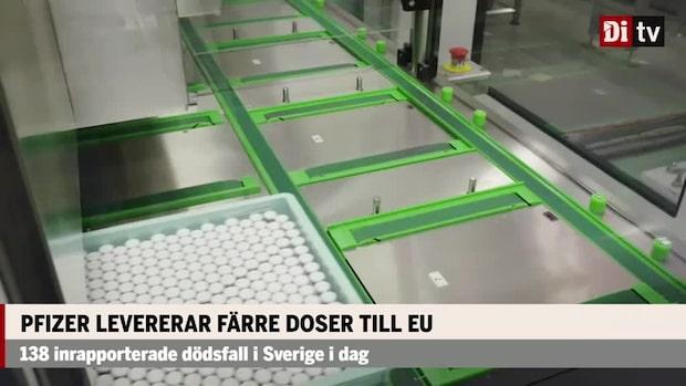 Pfizer minskar vaccindoserna till Sverige