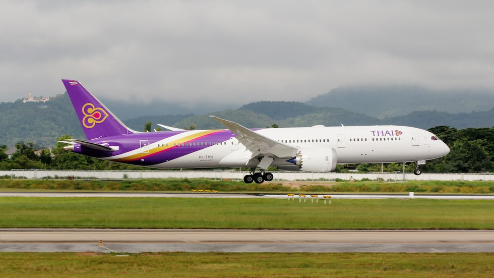 Thai Airways Dreamliner 787-900 tar inte emot kraftiga personer i affärsklass.