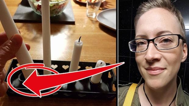 Julia fick nog av att ljusen vinglade i staken – hennes lösning är sjukt smart!