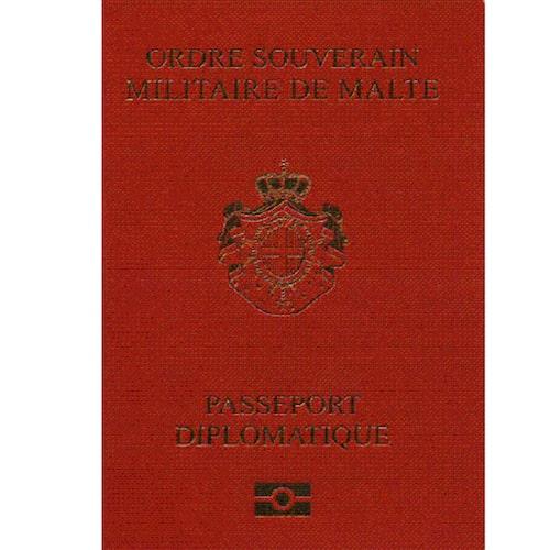 Malteserordens diplomatpass.