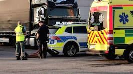 Slagsmål mellan lastbilschaufförer på mack i Malmö