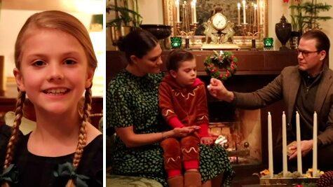Se kronprinsessfamiljens adventshälsning