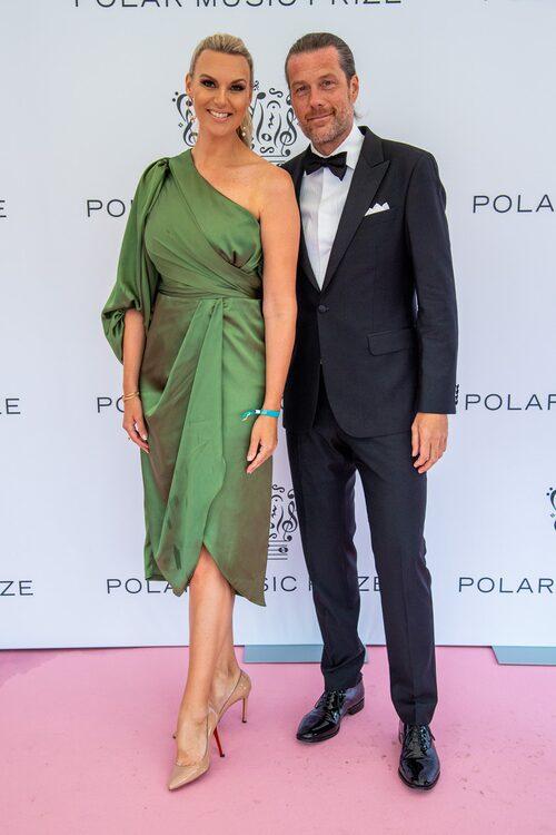 Sanna Nielsen med sin sambo Jocke.
