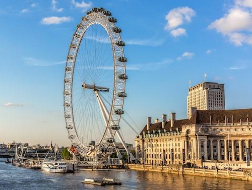 London Eye – Europas högsta pariserhjul.
