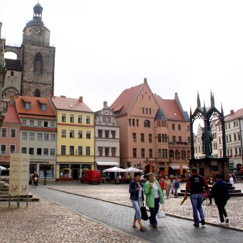 Wittenberg vid floden Elbe är i dag en fridfull småstad