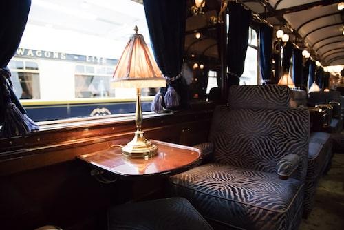Interiör från lyxtåget Venice-Simplon Orient Express.