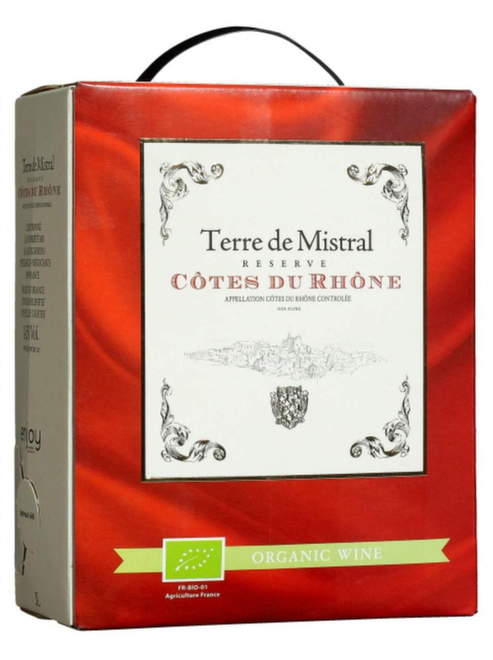 RöttTerre de Mistral 2013(10682) Rhônedalen, 245 kr (3 liter)Kryddigt och generöst med drag av mogna hallon, örter och lakrits. Ekologiskt. Gärna till örtspäckad fläskfilé.