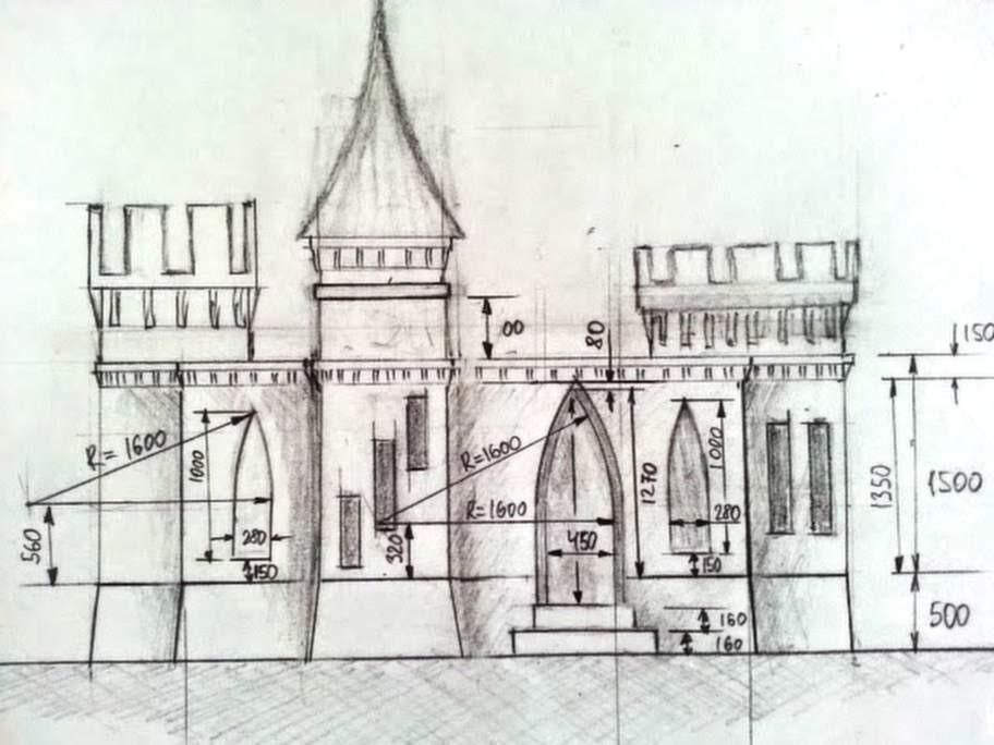 Ritningen på slottet.