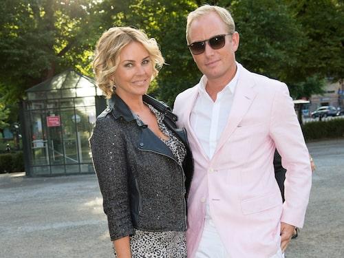 Magdalena Graaf tillsammans med exet Filip Larsson
