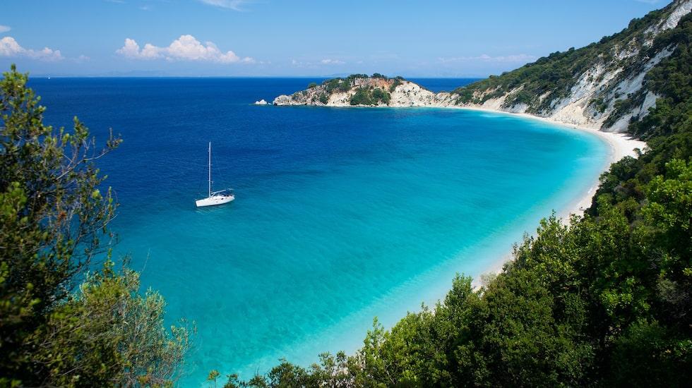 Ithaka ligger i Joniska havet nära grekiska fastlandet.