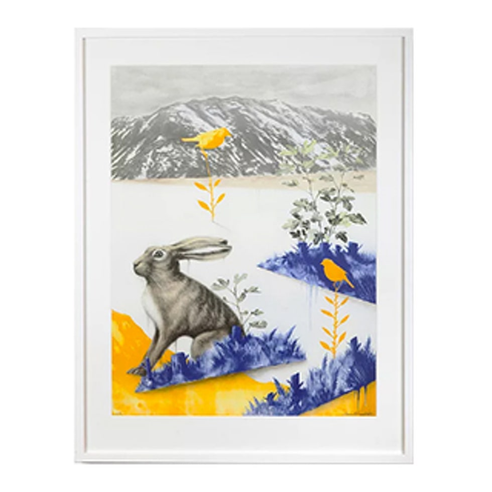 Motivet I öppen terräng av Daniel Grunditz finns nu i LEVA&BO:s konstgalleri. Klicka enkelt på plustecknet i bilden för att handla.