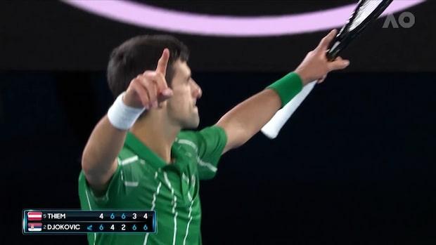Djokovic segervrål - vände och vann femsetaren