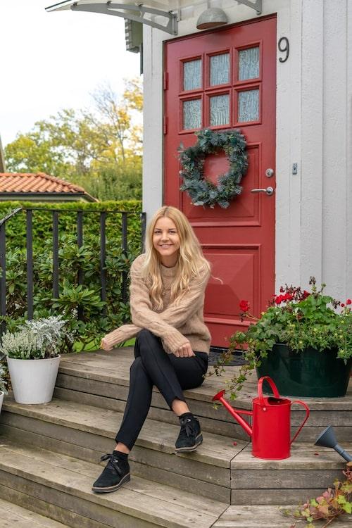 Annas intresse för trädgård väcktes till liv i samband med husköpet.