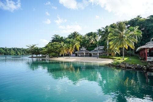 """Port Antonio på Jamaica är en av inspelningsplatserna för nya Bondfilmen """"No time to die""""."""