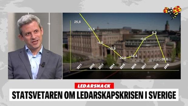 Ledarsnack: Statsvetaren om ledarskapskrisen i Sverige