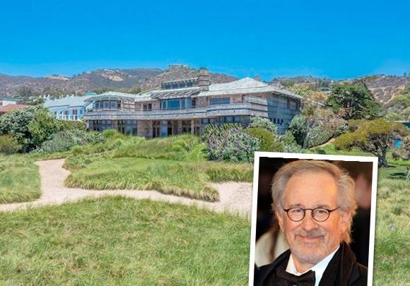 Steven Spielberg har även han en lya i Malibu som han vill hyra ut.