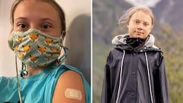 Greta Thunberg, 18, har fått första vaccindosen