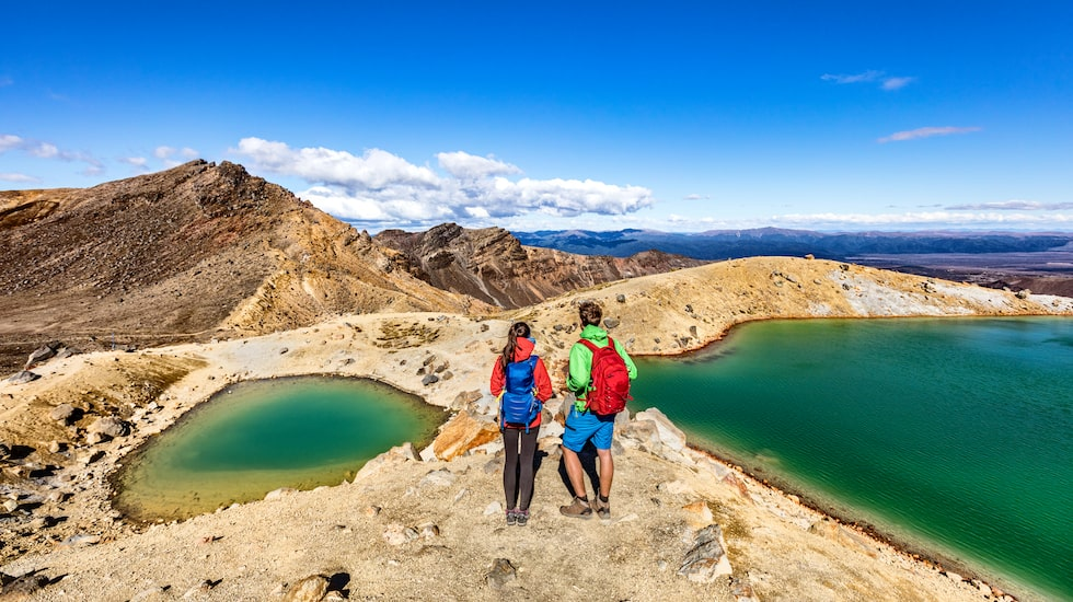 I Tongariro Alpine Crossing National Park i Nya Zeeland.
