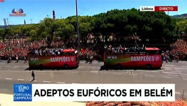 Här tar Portugal emot sina guldhjältar